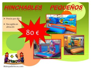 Alquilar hinchables pequeños en Ourense baratos